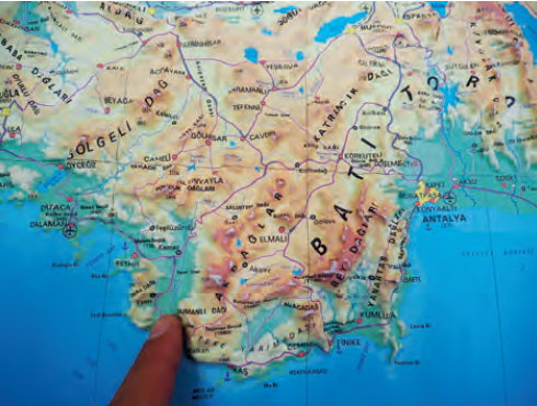 Fotoğraf 1.4.6 Kabartma harita