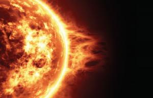 Fotoğraf 1.5.5 Güneş'teki patlamalar, çevreye yayılan enerji miktarını etkilemektedir.