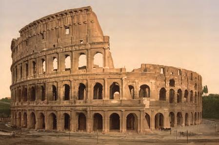 Fotoğraf 3.12 Roma uygarlığı kalıntılarından biri Colosseum (Kollezyum, Roma, İtalya)
