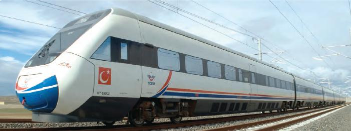 Fotoğraf 3.7 Son yıllarda yüksek hızlı trenlerle ulaşım kolaylaşmıştır.