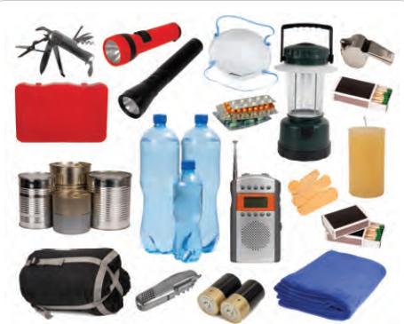 Fotoğraf 4.30 Deprem çantasında bulunan malzemeler