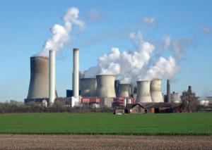 Fotoğraf 4.9 Kömür kullanılarak elektrik enerjisi elde edilen termik santraller havayı kirletmektedir.