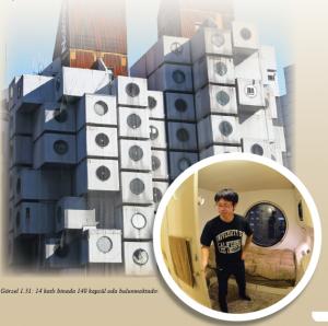Görsel 1.31 14 katlı binada 140 kapsül oda bulunmaktadır.
