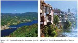 Görsel 2.12 Yeşilırmak'ın geçtiği Samsun'un Ayvacık ilçesi - Görsel 2.13 Tarihî güzellikleri barındıran Amasya