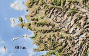 Harita 1.10 Enine kıyılar (Ege)