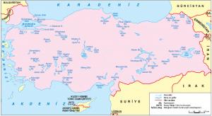Harita 1.23 Türkiye'nin gölleri (www.hgk.msb.gov.tr)