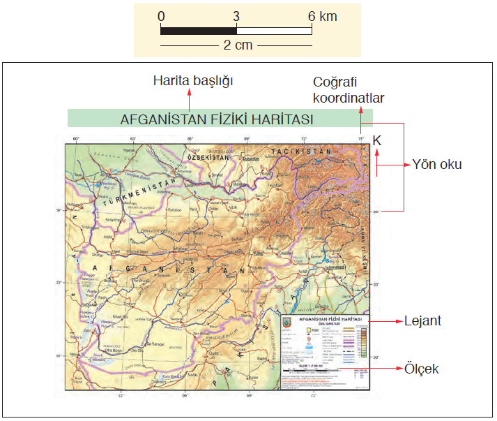 Harita 1.4.1 Harita elemanları (www.hgk.msb.gov.tr)