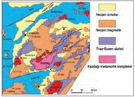 Harita 1.4.5 Jeoloji haritası (Biga Yarımadası)