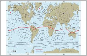 Harita 1.5.8 Yeryüzünde ocak ayı ortalama basınç dağılışı (atmos.washington.edu)