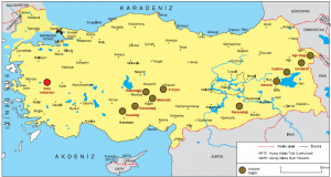 Harita 1.6 Türkiye'nin volkanik dağları