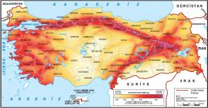 Harita 1.7 Türkiye'de deprem bölgeleri