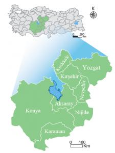 Harita 2.10 Konya Ovası Projesi kapsamındaki iller