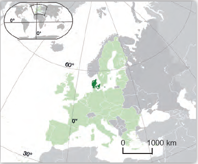 Harita 3.7 Danimarka lokasyon haritası