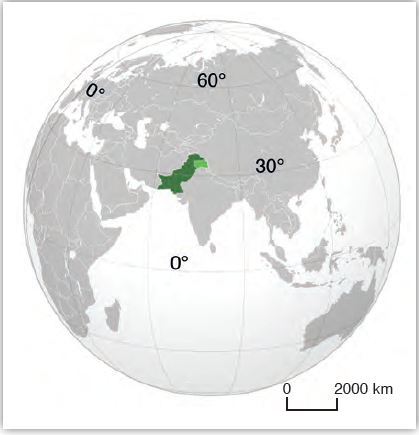 Harita 3.8 Pakistan lokasyon haritası