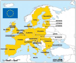 Harita 3.9 Avrupa Birliğine üye ülkeler