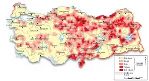 Harita 4.6 Su baskınlarının yoğunluğu (www.afad.gov.tr)