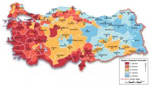 Harita 4.9 Yangın risk bölgeleri