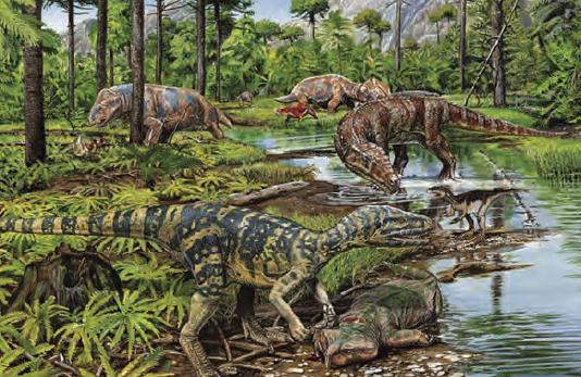 Resim 1.1 Dinozorlar İkinci Jeolojik Zaman'da yaşamış canlılardandır.